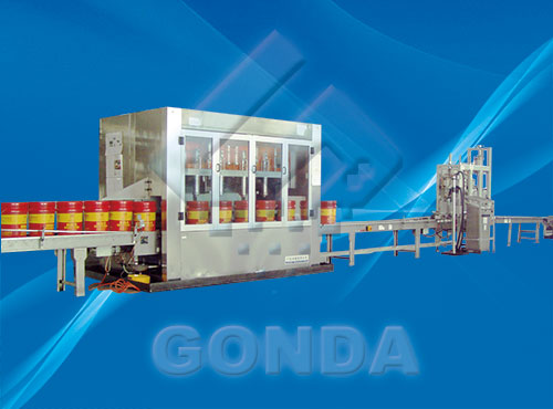 GN-ZD Weighing type of barrel filling line